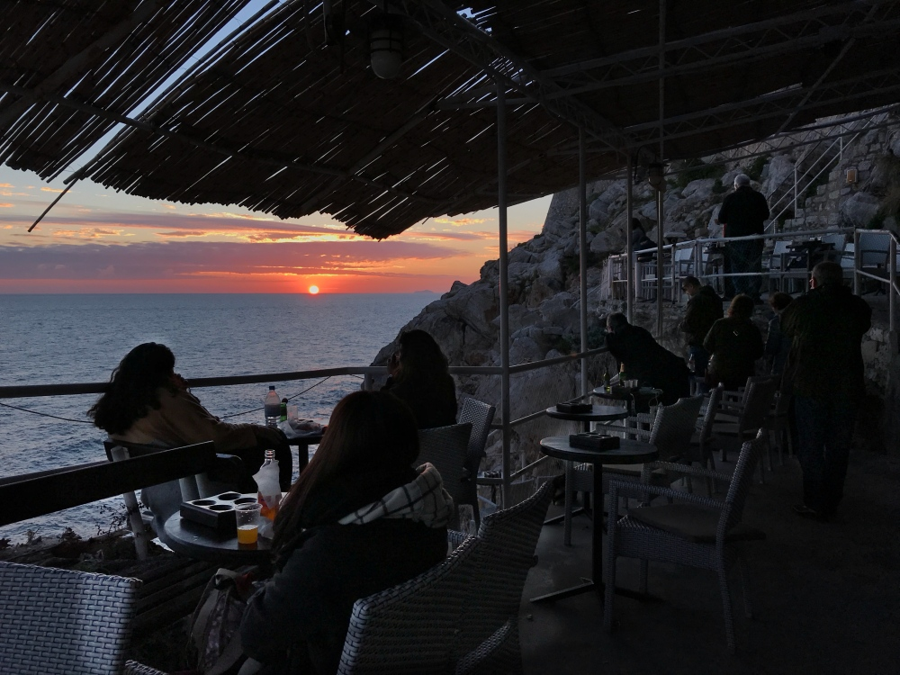 Cliff-side bar - Dubrovnik
