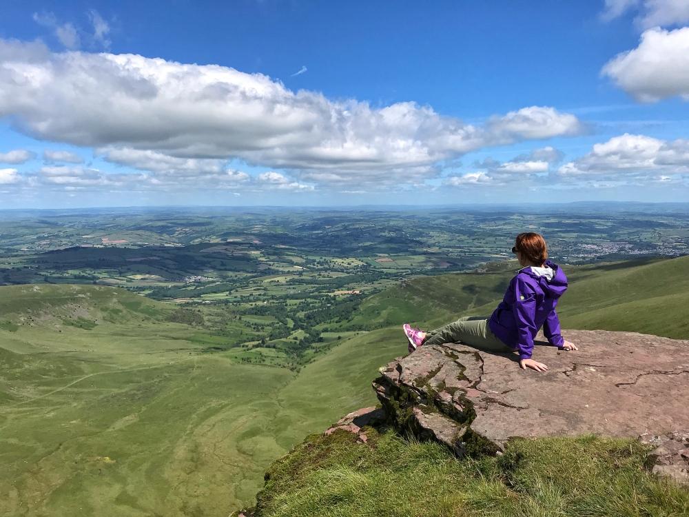 Pen Y Fan and Corn Du peaks in Brecon Beacons National Park