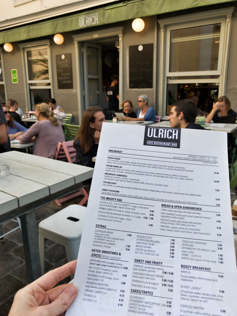 Ulrich Cafe in Vienna, Austria