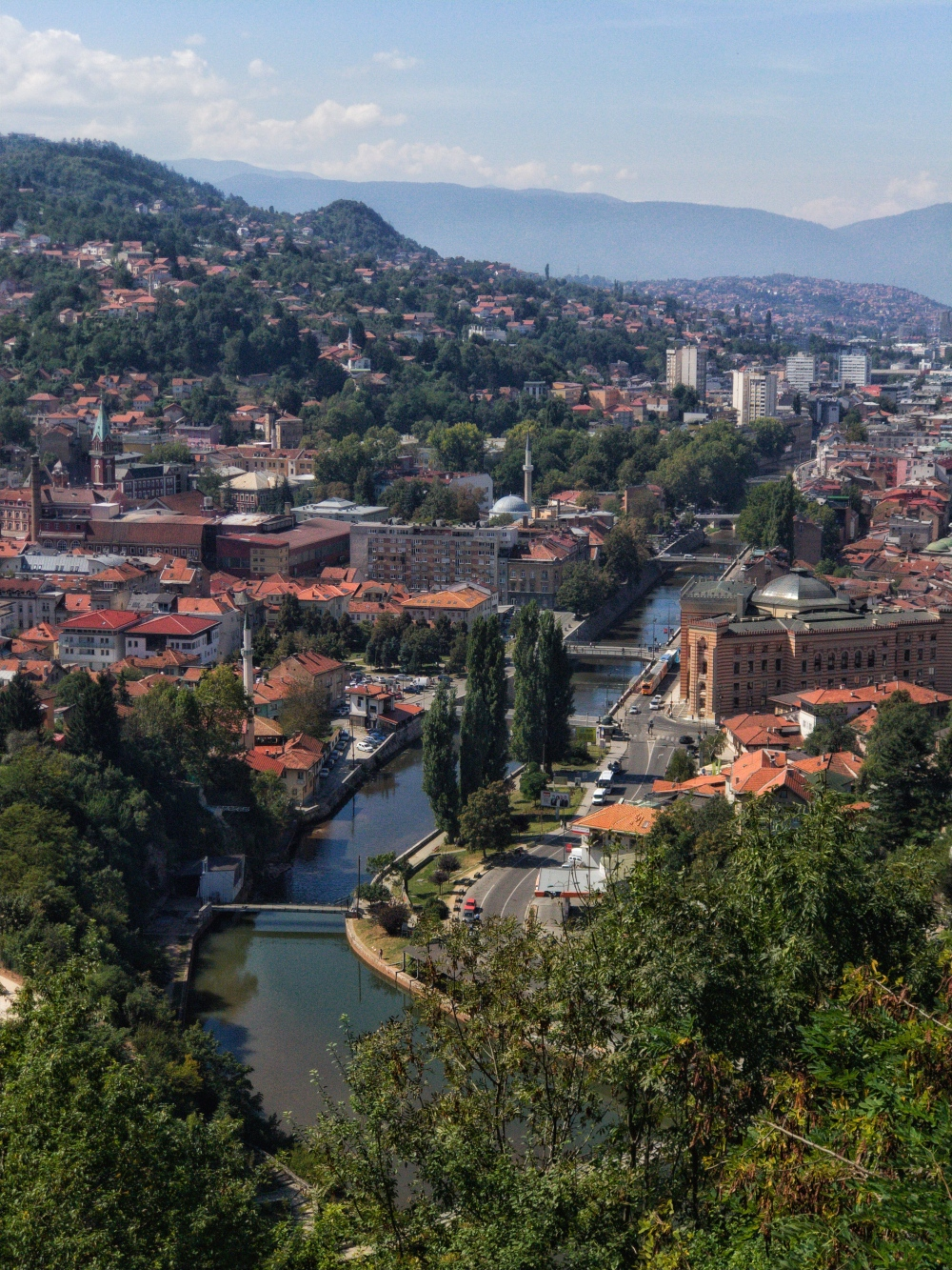 Sarajevo, Bosnia and Herzegovina, from the Yellow Fort