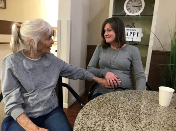 Grandma Marsha meeting Squish