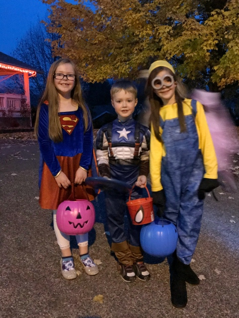 Trick-or-Treating with the Harts